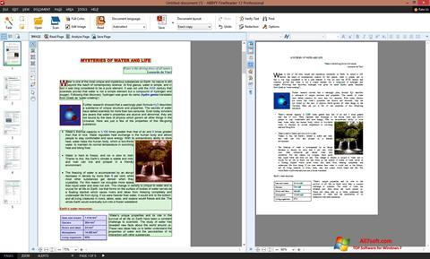ภาพหน้าจอ ABBYY FineReader สำหรับ Windows 7