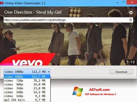 ภาพหน้าจอ Ummy Video Downloader สำหรับ Windows 7