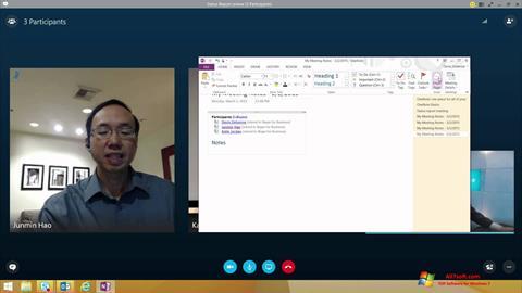 ภาพหน้าจอ Skype for Business สำหรับ Windows 7