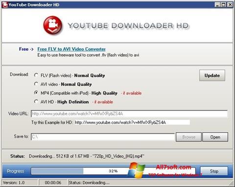 ภาพหน้าจอ Youtube Downloader HD สำหรับ Windows 7