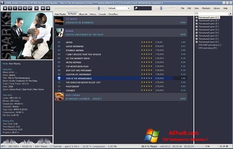 ภาพหน้าจอ Foobar2000 สำหรับ Windows 7