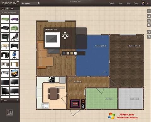 ภาพหน้าจอ Planner 5D สำหรับ Windows 7