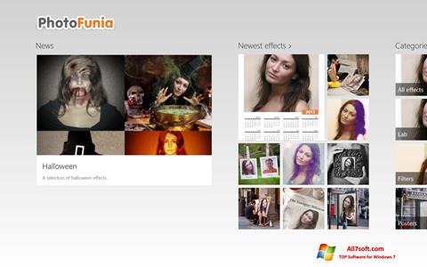 ภาพหน้าจอ PhotoFunia สำหรับ Windows 7