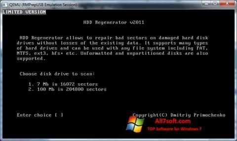 ภาพหน้าจอ HDD Regenerator สำหรับ Windows 7