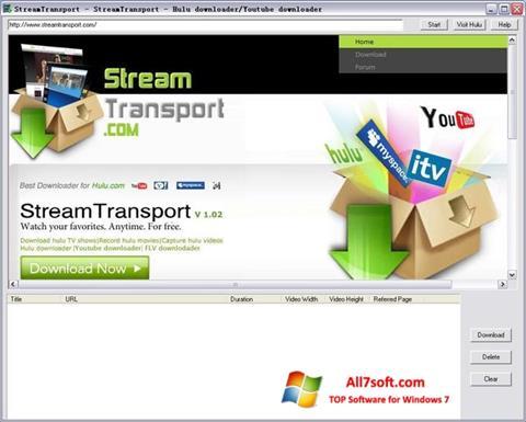 ภาพหน้าจอ StreamTransport สำหรับ Windows 7