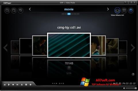 ภาพหน้าจอ KMPlayer สำหรับ Windows 7