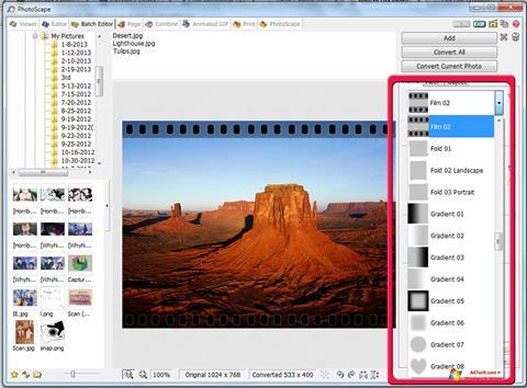 ภาพหน้าจอ PhotoScape สำหรับ Windows 7