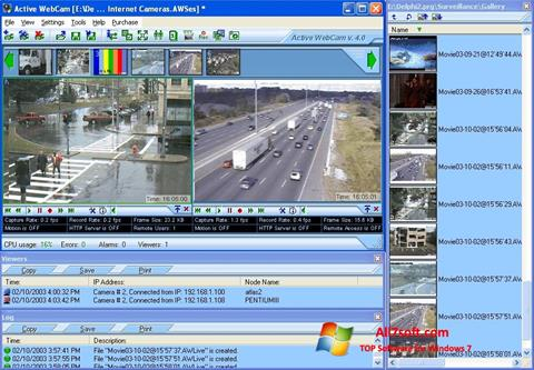 ภาพหน้าจอ Active WebCam สำหรับ Windows 7