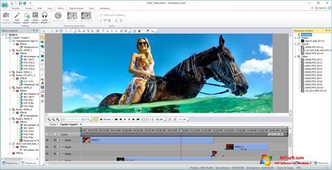 ภาพหน้าจอ VSDC Free Video Editor สำหรับ Windows 7