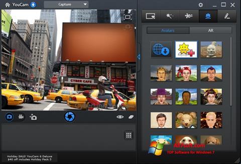 ภาพหน้าจอ CyberLink YouCam สำหรับ Windows 7